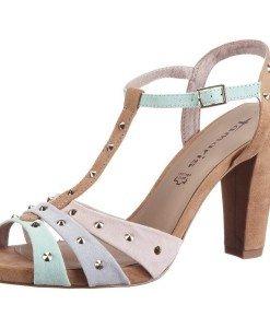GDY38 Sandale cu tinte din piele intoarsa - Sandale dama - Incaltaminte > Incaltaminte Femei > Sandale dama