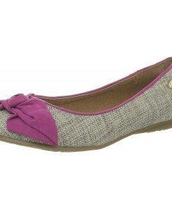 GDY80 Balerini din material textil cu fundita - Balerini si slippers - Incaltaminte > Incaltaminte Femei > Balerini si slippers