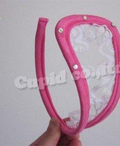 GS290-55 Chilot invizibil c-string sexy cu decupaj si volanase din dantela - Invizibili C-String - Haine > Haine Femei > Lenjerie intima > Chilot dama > Invizibili C-String