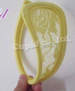 GS300-9 Chilot invizibil c-string cu model floral din dantela - Invizibili C-String - Haine > Haine Femei > Lenjerie intima > Chilot dama > Invizibili C-String