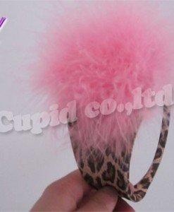 GS361-55 Chilot invizibil c-string cu model animal print si puf in fata - Invizibili C-String - Haine > Haine Femei > Lenjerie intima > Chilot dama > Invizibili C-String