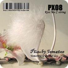GS362-2 Chilot invizibil c-string alb cu puf in fata - Invizibili C-String - Haine > Haine Femei > Lenjerie intima > Chilot dama > Invizibili C-String