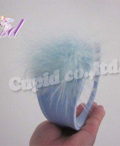 GS362-48 Chilot invizibil c-string bleu cu puf in fata - Invizibili C-String - Haine > Haine Femei > Lenjerie intima > Chilot dama > Invizibili C-String