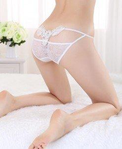 GS676-2 Lenjerie chilot normal sexy cu dantela si decupaj la spate - Chilot dama - Haine > Haine Femei > Lenjerie intima > Chilot dama