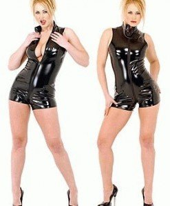 H10 Salopeta scurta din latex - Salopete - Haine > Haine Femei > Costume latex si PVC > Salopete