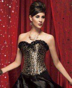 H316-99 Corset sexy cu model leopard - Corsete - Haine > Haine Femei > Corsete > Corsete