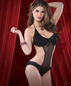 J104 Lenjerie body sexy semitransparent