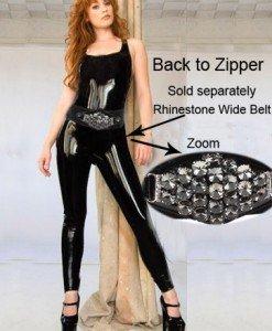 J110- Salopeta sexy din Latex PVC - Salopete - Haine > Haine Femei > Costume latex si PVC > Salopete