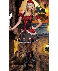 J223 Costum tematic pirat - Pirat - Haine > Haine Femei > Costume Tematice > Pirat