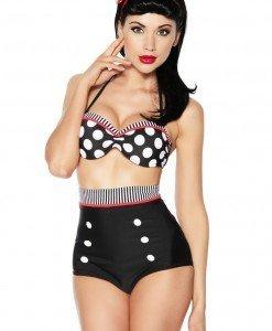 J251 Costum de baie cu model pin up - Costume de baie 2 piese - Haine > Haine Femei > Costume de baie > Costume de baie 2 piese