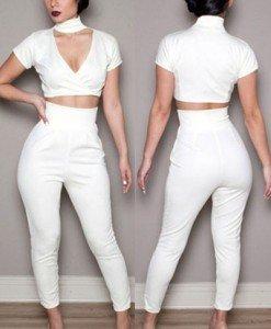 J273-2 Compleu top si pantaloni - Top si pantaloni - Haine > Haine Femei > Compleuri > Top si pantaloni