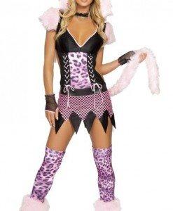 J44 Costum Carnaval Pisica - Animalute - Haine > Haine Femei > Costume Tematice > Animalute