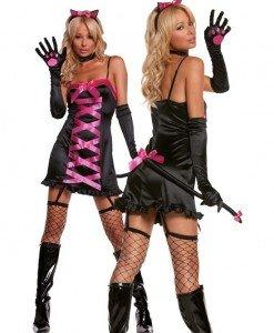 J45 Costum Halloween - felina sexy - Animalute - Haine > Haine Femei > Costume Tematice > Animalute