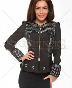 Jacheta LaDonna Elegant Dots Black - Jachete -