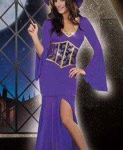 K300-10 Costum tematic vrajitoare Halloween - Vrajitoare - Vampir - Haine > Haine Femei > Costume Tematice > Vrajitoare - Vampir
