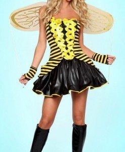 L105 Costum tematic albinuta - Animalute - Haine > Haine Femei > Costume Tematice > Animalute