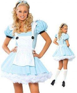 L163 Costum tematic Alice in Tara Minunilor - Basme si Legende - Haine > Haine Femei > Costume Tematice > Basme si Legende