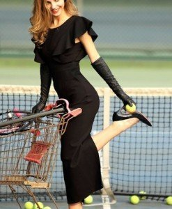 L368-1 Rochie eleganta de seara cu crapatura la spate - Rochii lungi - Haine > Haine Femei > Rochii Femei > Rochii de seara > Rochii lungi