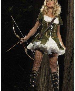 L68 Costum Halloween Robin Hood - Basme si Legende - Haine > Haine Femei > Costume Tematice > Basme si Legende