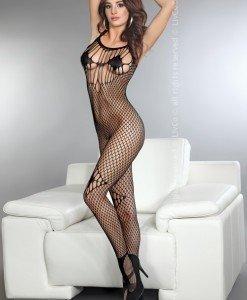 Livia Corsetti 271-1 Lenjerie catsuit cu plasa si model pe picior - Bodystockings