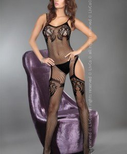 Livia Corsetti 293-1 Bodystocking cu decupaj lateral - Bodystockings