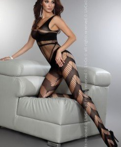 Livia Corsetti 298-1 Lenjerie catsuit bodystocking cu plasa - Bodystockings