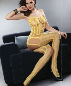 Livia Corsetti 64-999 Bodystocking cu portjartier atasat - Bodystockings