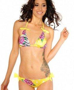 M112 Costum de baie cu model floral - Costume de baie 2 piese - Haine > Haine Femei > Costume de baie > Costume de baie 2 piese