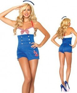 M133 Costum tematic - salopeta marinar - Armata - Marinar - Haine > Haine Femei > Costume Tematice > Armata - Marinar