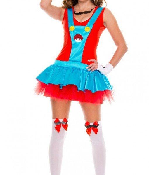 M240-3 Costum tematic Mario – Altele – Haine > Haine Femei > Costume Tematice > Altele
