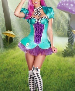 M319 Costum Halloween Alice in Tara Minunilor - Basme si Legende - Haine > Haine Femei > Costume Tematice > Basme si Legende