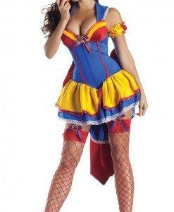 N235 Costum Halloween Alba ca Zapada - Basme si Legende - Haine > Haine Femei > Costume Tematice > Basme si Legende