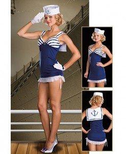 N79 Costum tematic marinar - Armata - Marinar - Haine > Haine Femei > Costume Tematice > Armata - Marinar