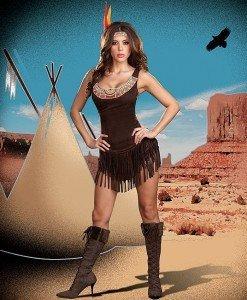 P130 Costum Halloween indianca - Basme si Legende - Haine > Haine Femei > Costume Tematice > Basme si Legende