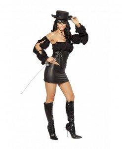 P147 Costum tematic de carnaval - Zorro - Basme si Legende - Haine > Haine Femei > Costume Tematice > Basme si Legende