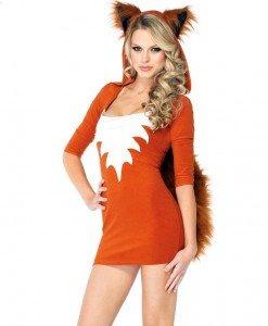 P213 Costum Halloween vulpe - Animalute - Haine > Haine Femei > Costume Tematice > Animalute