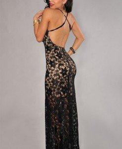 P277-1 Rochie lunga eleganta de seara cu dantela - Rochii cu dantela - Haine > Haine Femei > Rochii Femei > Rochii de seara > Rochii cu dantela