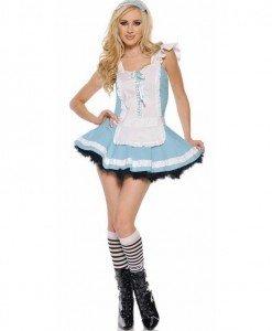 P311 Costum Halloween Alice in Tara Minunilor - Basme si Legende - Haine > Haine Femei > Costume Tematice > Basme si Legende