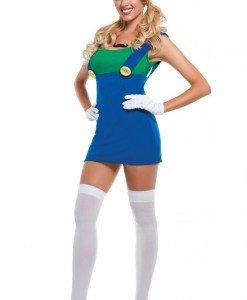 P313-12 Costum Halloween Luigi - Altele - Haine > Haine Femei > Costume Tematice > Altele