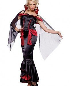 P88 Costum Halloween Regina - Vrajitoare - Vampir - Haine > Haine Femei > Costume Tematice > Vrajitoare - Vampir