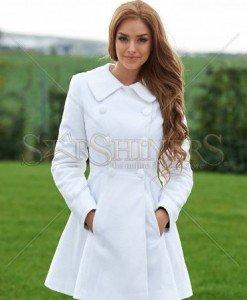Palton LaDonna Be Elegant White - Paltoane -