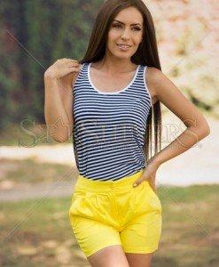 Pantaloni Scurti Artista Idealist Yellow - Pantaloni scurti -