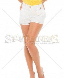 Pantaloni Scurti PrettyGirl Holey White - Pantaloni scurti -