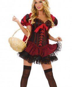 Q133 Costum Carnaval Scufita Rosie - Basme si Legende - Haine > Haine Femei > Costume Tematice > Basme si Legende