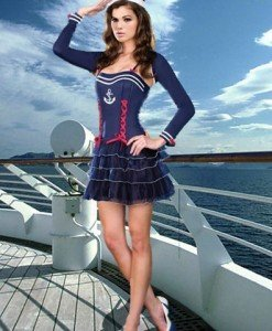 Q161 Costum Halloween marinar - Armata - Marinar - Haine > Haine Femei > Costume Tematice > Armata - Marinar