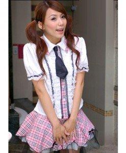 Q265 Costum de scolarita cu cravata - Scolarita - Haine > Haine Femei > Costume Tematice > Scolarita