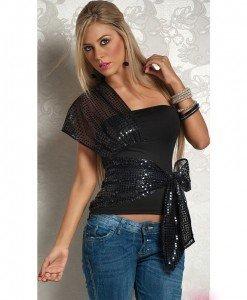 R226 Bluza cu Paiete - Bluze - Haine > Haine Femei > Bluze