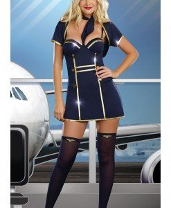 R232 Costum tematic stewardesa (pilot) - Armata - Marinar - Haine > Haine Femei > Costume Tematice > Armata - Marinar