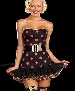 R302 Costum Halloween dansatoare Polka - Animalute - Haine > Haine Femei > Costume Tematice > Animalute