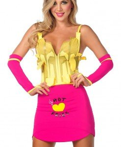 R313 Costum Halloween cartofi prajiti - Altele - Haine > Haine Femei > Costume Tematice > Altele